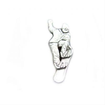 Snowboarder Pewter Pin Badge